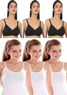 3+3,combo,of,camisoles,&,bras ,online,onlineindia