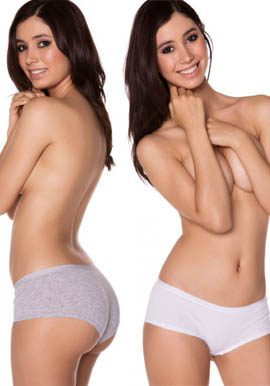 Cotton boyshort panties value pack at snazzyway.com