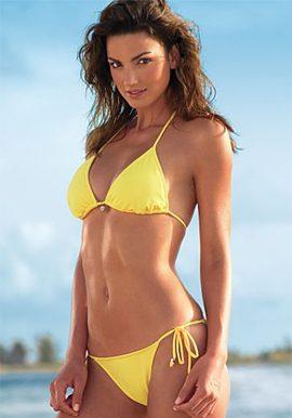 tempting yellow string bikini set online india@snazzyway.com
