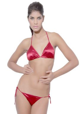flirtatious string bikini set in maroon online india@snazzyway.com