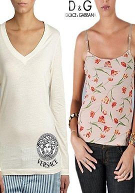 combo,versace,top+d&g,floral,camisole,online,onlineindia