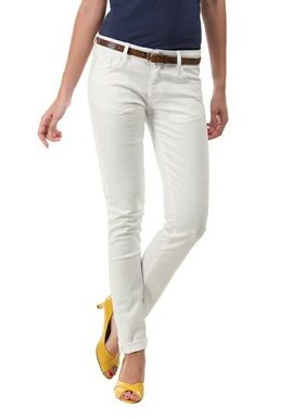 Regular Fit White Jeans online 