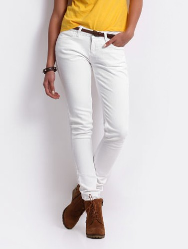Ladies White Jeans Ye Jean