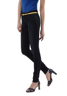 Black Denim Jeans With Belt|online|