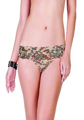 Cream Flower Print Brief |buy|online|India|