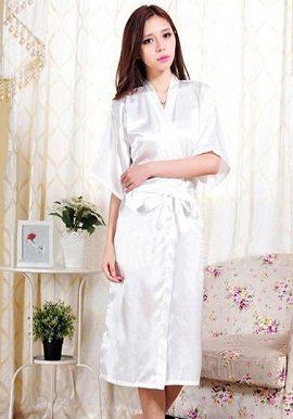 Crepe White Robe|online|cheap|robe|buy|india|