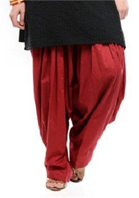 Full Cotton Maroon Patiala Salwar|buy|bottom|online|