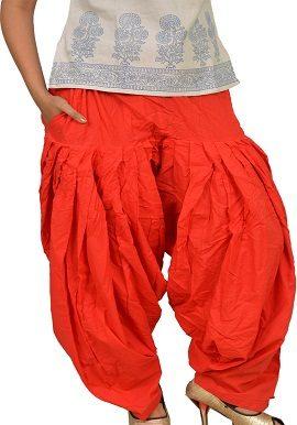 Full Cotton Peach Red Patiala Salwar|online|bottoms|buy|