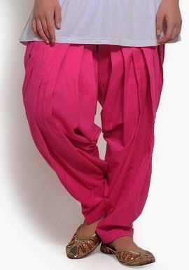 Full Cotton Pink Patiala Salwar|bottom|online|buy|