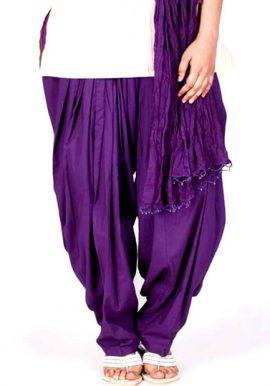 Full Cotton Purple Patiala Salwar
