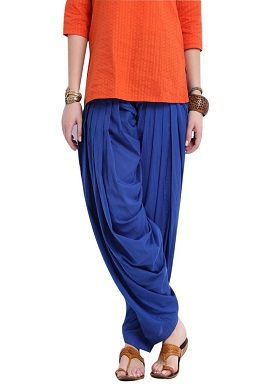 Full Cotton Royal Blue Patiala Salwar|online|bottom|buy|