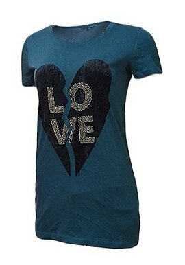 Gas Love Print Sea Blue Tee|buy|tee|