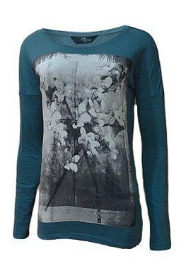 Gas Sea Blue Floral Printed Tee|buy|online|tee|