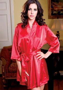 Hot Red Crepe Robe|cheap|buy|online|india|