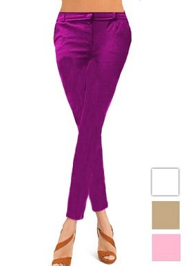 Magenta Coloured Skinny Jeggings buy 
