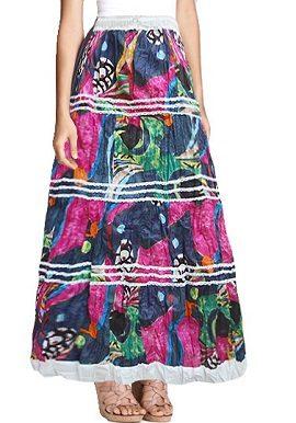 Multi Coloured Printed Skirt |buy|online|