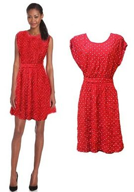 Polka Dots Red Coloured Tunic|online|