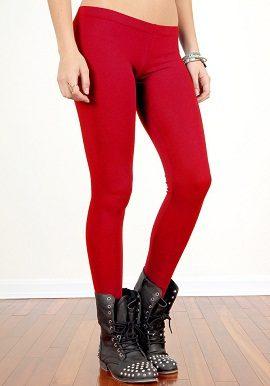 Soleil Red Coloured Legging |online|