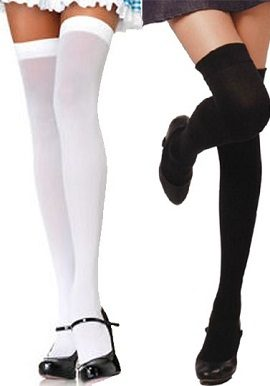 White & Black Coloured Stockings(Pk Of 2)|buy|