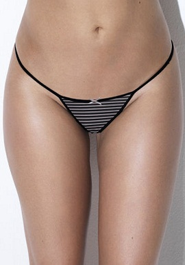 Comfy Pack Of 2 Black White Strip Thong |buy|online|