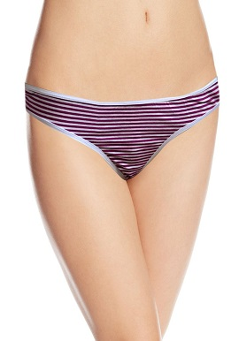 Women's Comfort Soft Purple Stripes Thong |online|buy|
