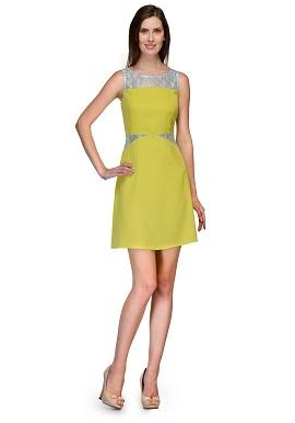 Girls Cool Plain Lime Green Tunic