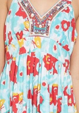 Girls Multi Colour Hues Cotton Dress 2