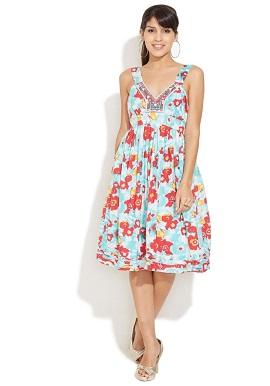 Girls Multi Colour Hues Cotton Dress