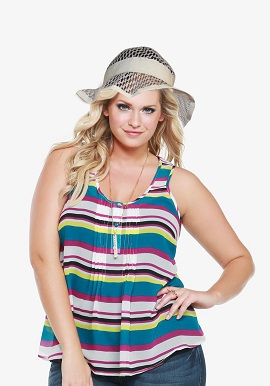 Ladies Sun Protective Floppy Brim Hat