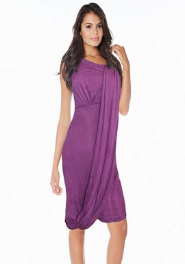 Light Purple Off Shoulder Long Dress