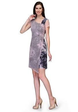 Raas Prêt Girls Elegant Grey Printed Tunic