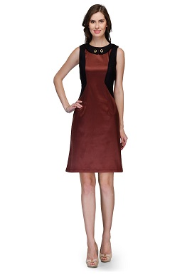 Raas Pret Girls Party Wear Brown Black Dress
