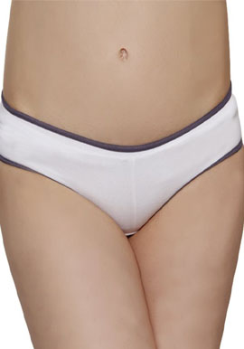 Women's Comfort Blend White Hipster(PK Of 2)