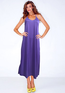 Women's Comfy Purple Satin Nighty