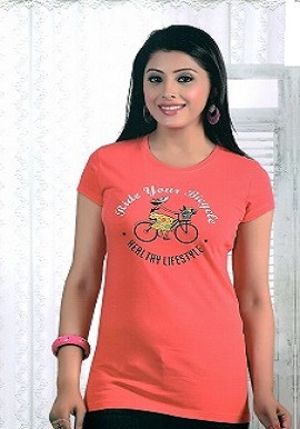 Women's Fashion Smooth Orange Tee