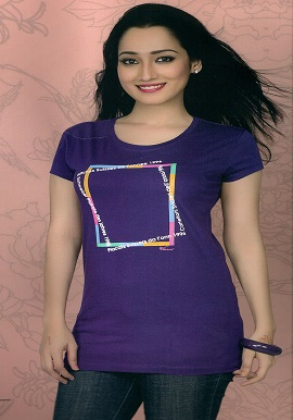 Women's Short Sleeves Purple Tee