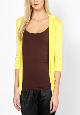 Yellow Full Sleeves Shrug