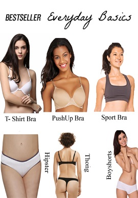 Best Seller Everyday Basics Lingerie Essential Value Pack