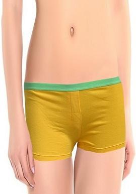 Women's Plain Feature Attractive Yellow Boyshort (Pk Of 2)