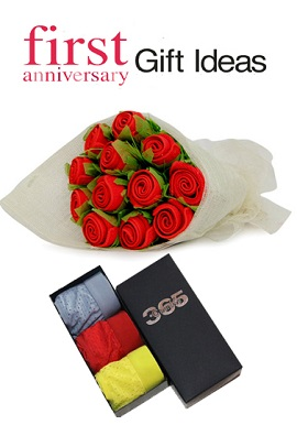 Best first wedding anniversary gift pack for wife for Gift ideas for first wedding anniversary to wife