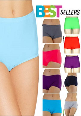 Bestseller-Snazzyway Lot Of 10 Luxury Boyshorts Panties