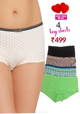 Cotton plus size Boyshorts Value Pack Of 4