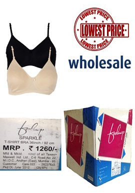 Vip Feelings Wholesale lot - Six T Shirt Bras