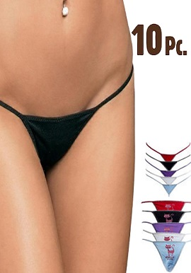 Wholesale 10 Pieces Sexy String Thong Panties Lot