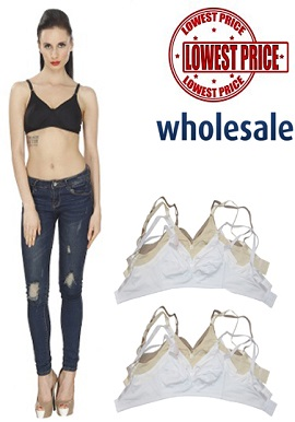 Wholesale Cotton Bras - Six Piece Lot