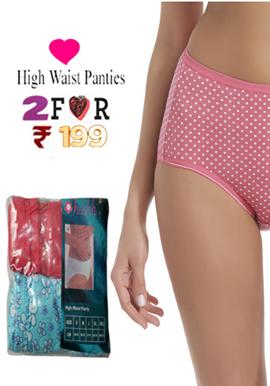Hushh Women's Comfort Smooth High Waist Brief pk-3