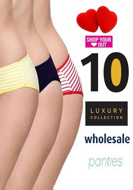Wholesale Women's Rich Cotton 10 Panties Lot