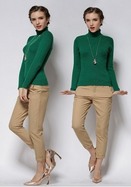 Women's Soft Cashmere Turtleneck Sweater