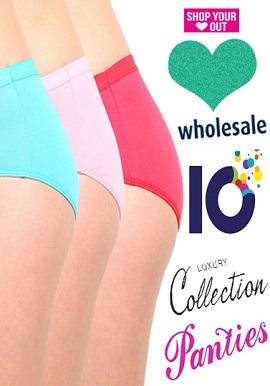Women's Stretch Cotton Soft Wholesale 10 Panties Lot