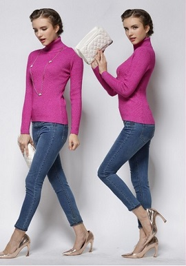 Women's Winter High-Necked Cashmere Sweater